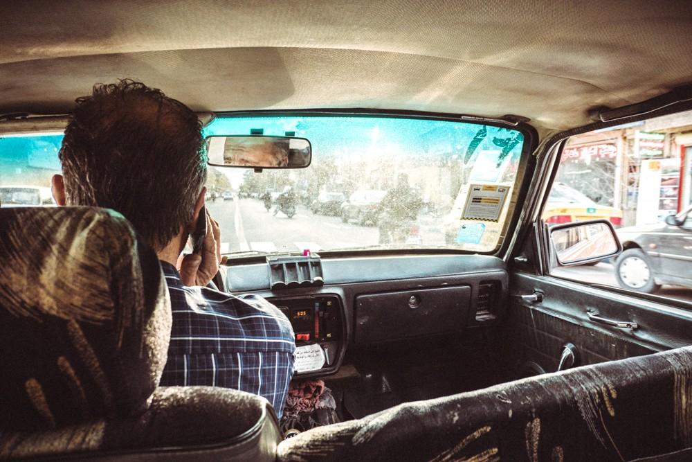 Paykan taxi interior